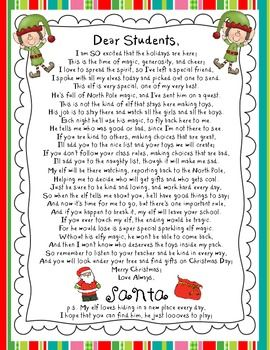 Letters From An Elf Holiday Elf Adventures Christmas Teaching
