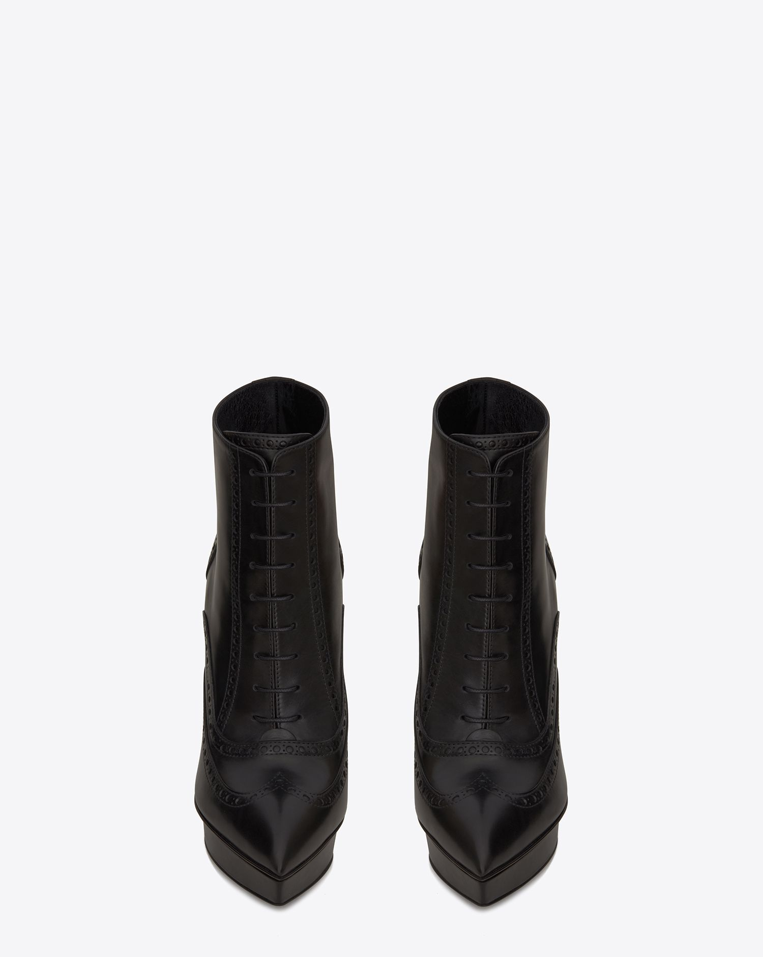 Saint Laurent Classic Janis Buckle Ankle Boot In Black Leather Ysl