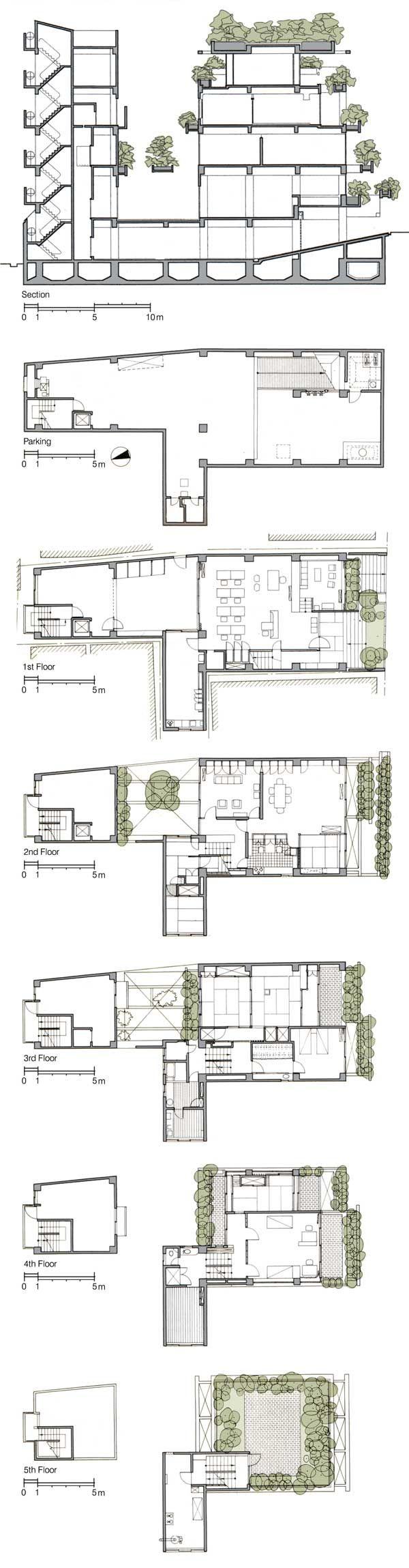 Rokko Housing Section Floor Plans Kobe Japan Tadao Ando Floor Plans Tadao Ando How To Plan