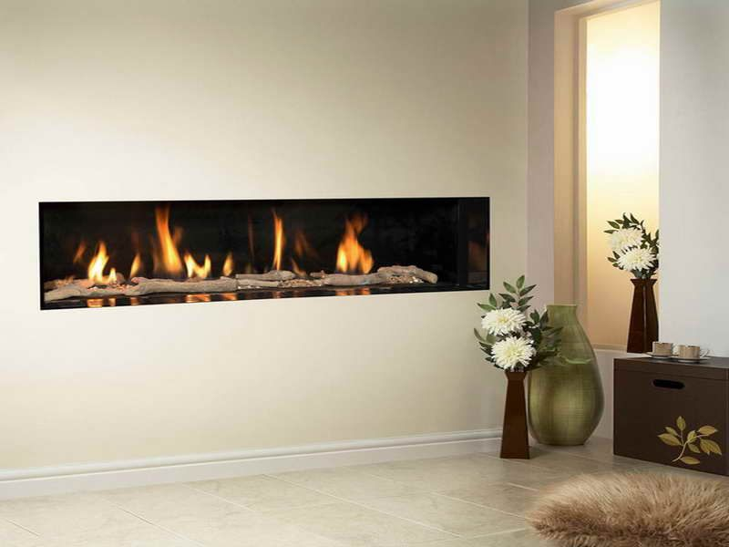 Contemporary Built Gas Wall Fireplaces Modern | theater room ideas ...