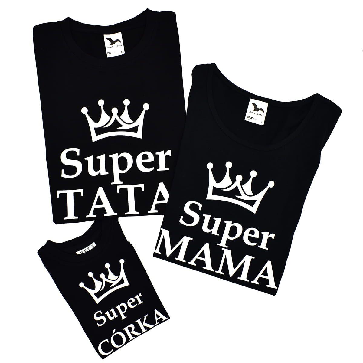 Zestaw Rodzinny Z Koronami Super Mama Super Tata Super Corka