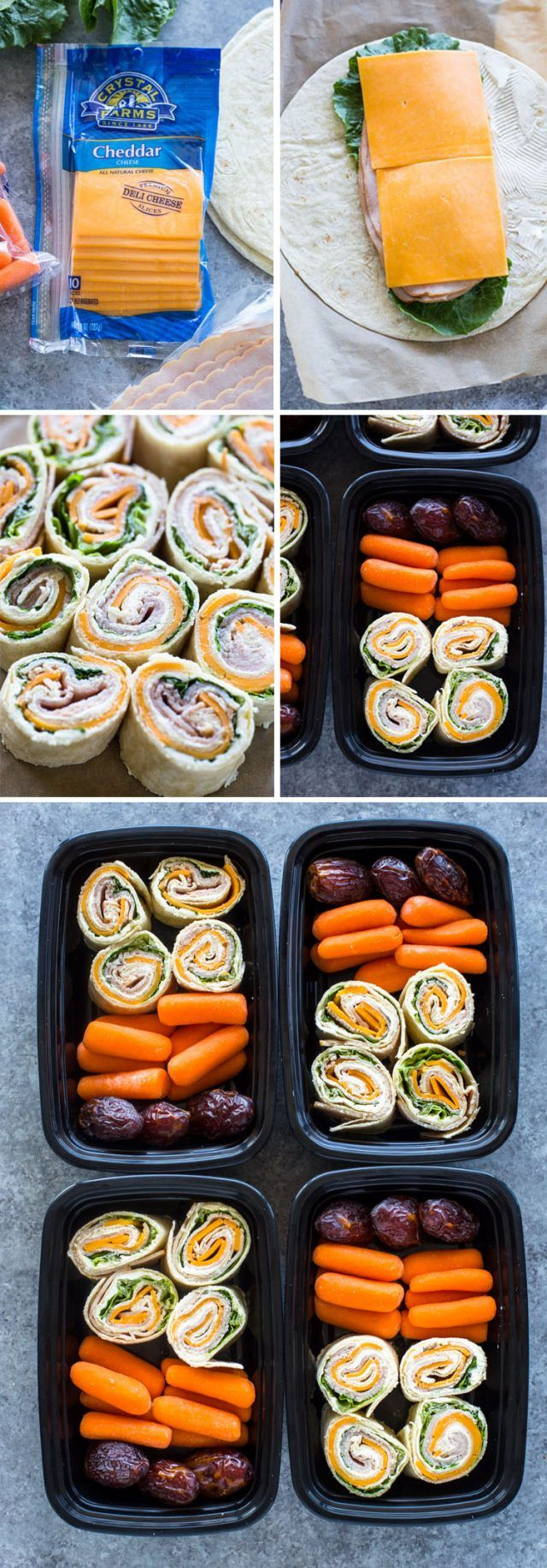 Turkey and Cheese Pinwheels (Meal-Prep Idea) #healthylunches