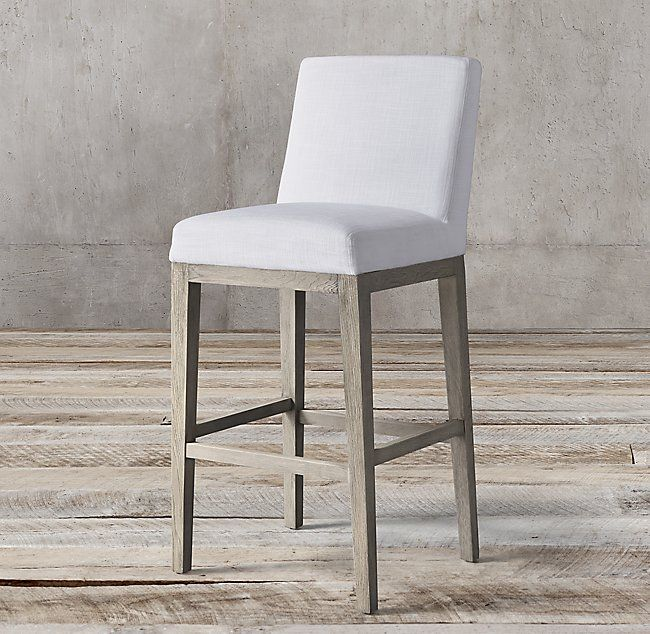 Morgan Armless Fabric Stool Upholstery Fabric For Chairs