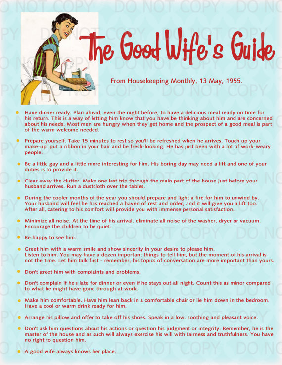 Guide to being a good housewife