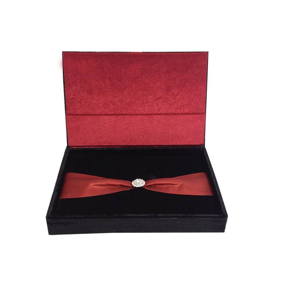 Buy luxury velvet invitations like boxed wedding invitations with ...