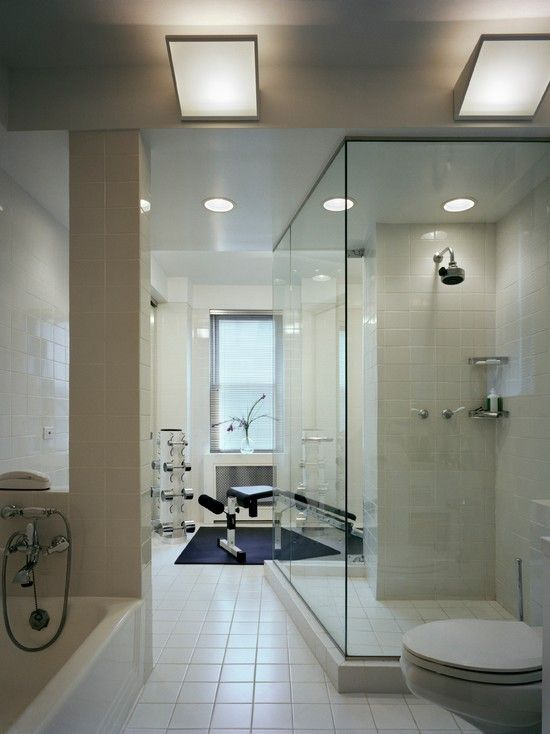 Modern Home Gym Design, Pictures, Remodel, Decor and Ideas - page 4 on large bathroom shower ideas, bathroom shower organization ideas, bathroom remodeling, plumbing design ideas, bathroom black and white ideas, bathroom bath ideas, bathrooms interior design ideas, master bathroom shower ideas, walk-in shower ideas, bathtub design ideas, florida bathroom design ideas, all tiled small bathroom ideas, small bathroom design ideas, home sauna design ideas, bathroom mirror design ideas, bathroom backsplash design ideas, bathroom vanity cabinet sizes, bathroom shower niche ideas, very very small bathroom ideas, master bathroom design ideas,