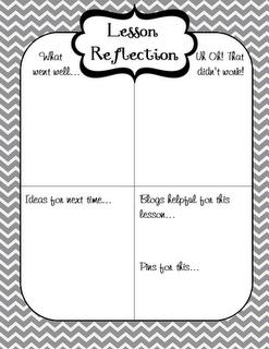 Lesson reflection freebie by www
