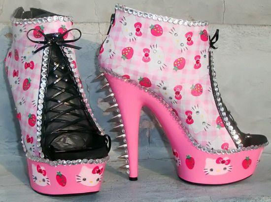 Hello kitty heels, Hello kitty boots