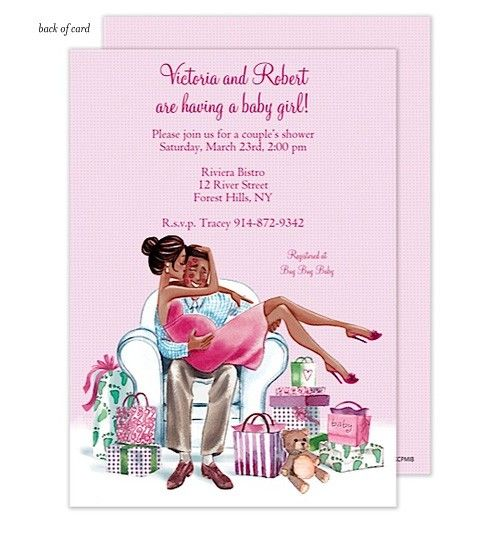Good Kisses For Baby Pink African American Baby Shower Invitation By Bonnie  Marcus