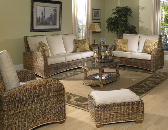 Seagrass Furniture Set: St. Kitts Set of 4