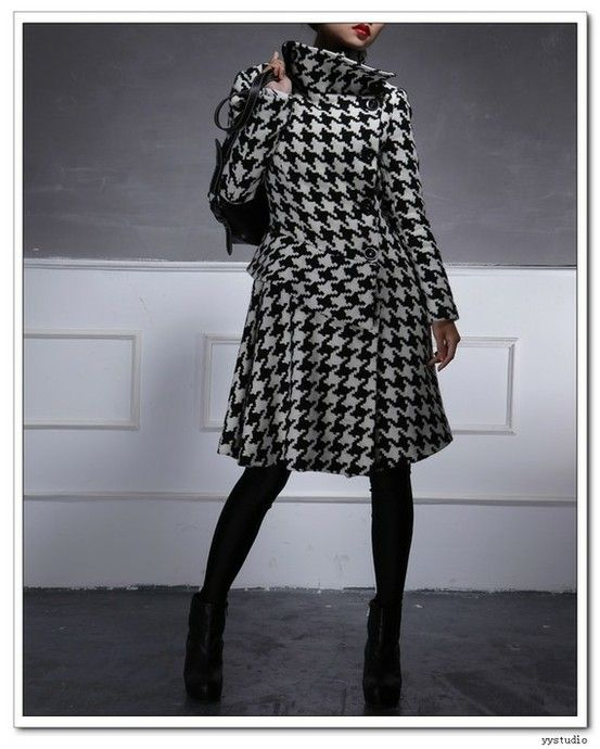 houndstooth #wool #coat by eva.ritz | style 2 | Pinterest | Coats ...