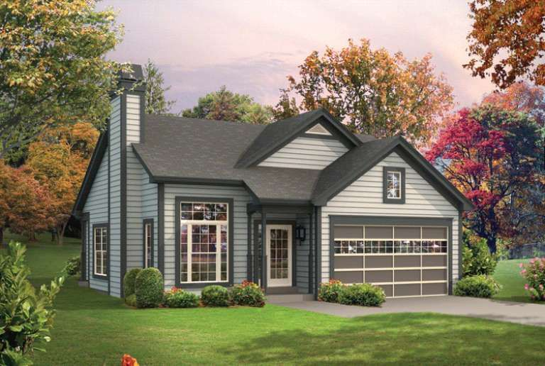 House Plan 5633 00209 Ranch Plan 1 281 Square Feet 3 Bedrooms 2 Bathrooms In 2020 Ranch Style House Plans Ranch House Plans Cottage House Plans