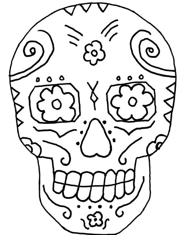 Coloring Get This Printable Dia De Los Muertos Coloring Pages W on ...