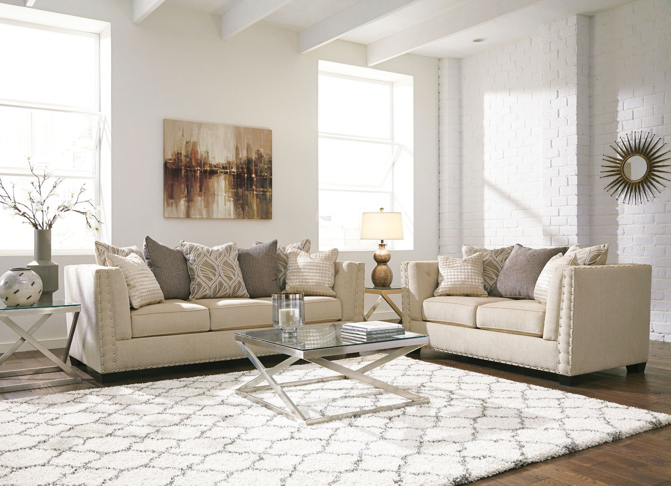 Living Room Design: featuring the Locklee Loveseat by Ashley ...