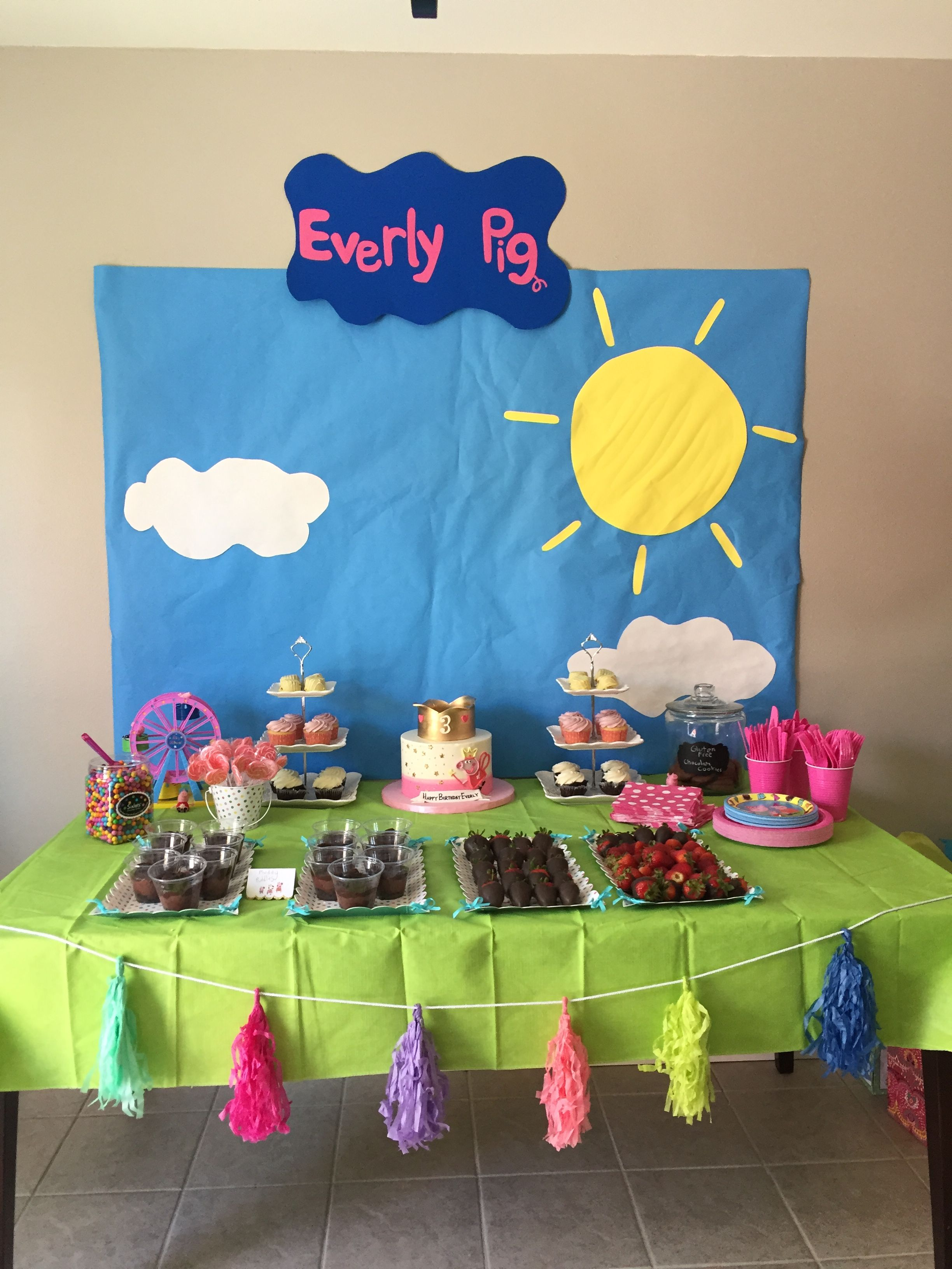 Diy Peppa Pig Birthday Party Peppa Pig Birthday Party Decorations Pig Birthday Party Decorations Peppa Pig Birthday
