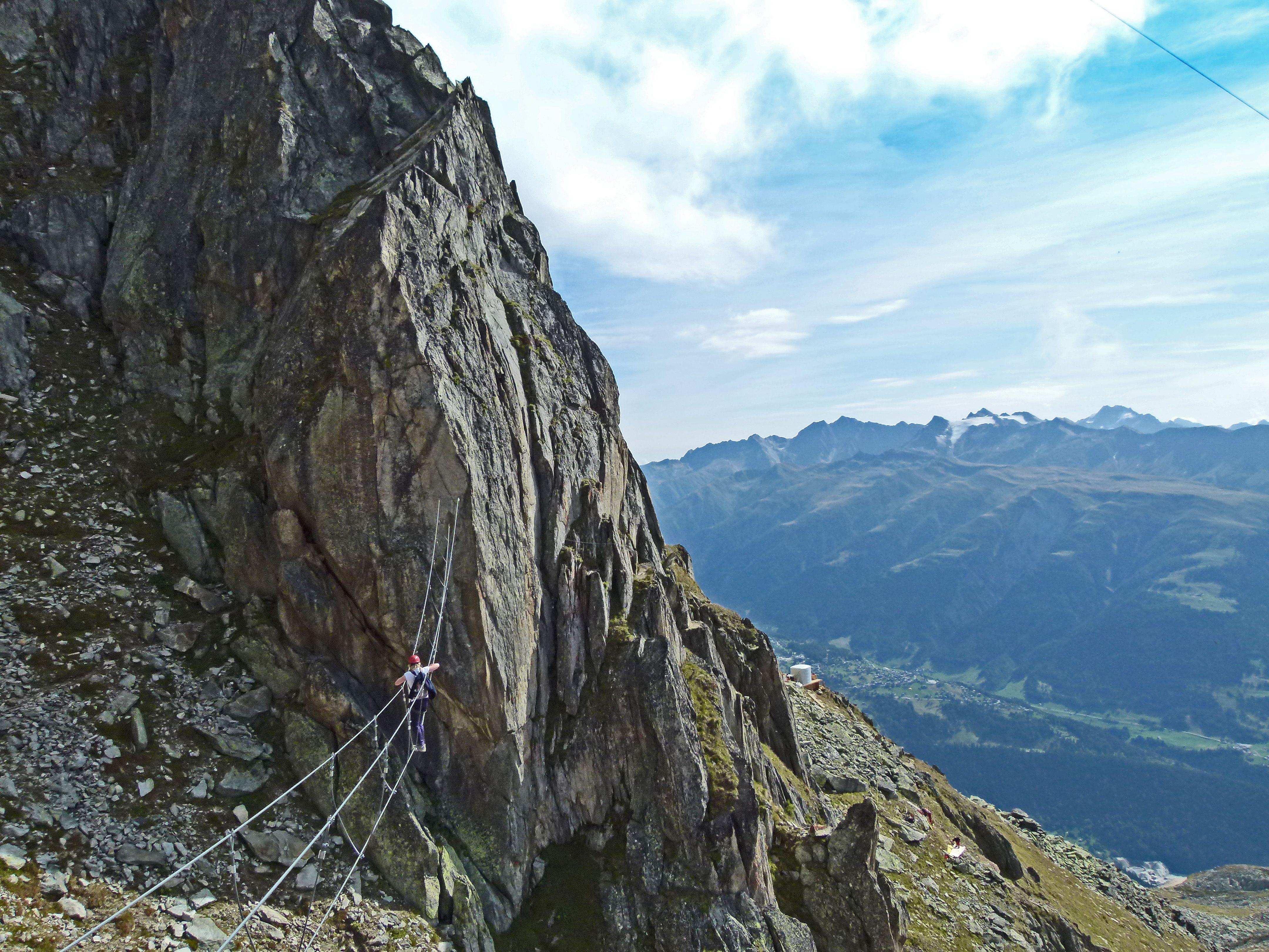 Klettersteig Switzerland : Me on the eggishorn klettersteig switzerland been there