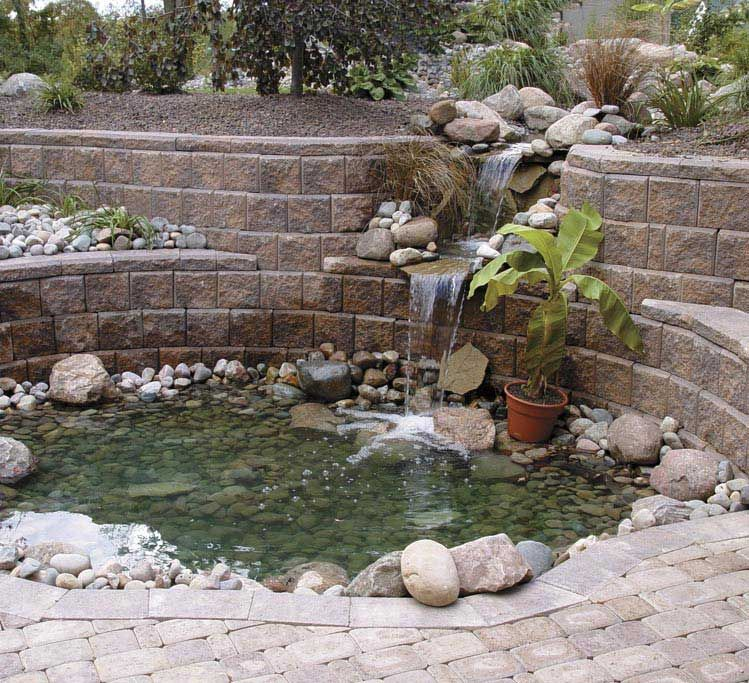 How to build a rock wall waterfall description from for Rock ponds designs