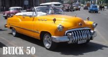 Buick 50 convertible. Yellow color
