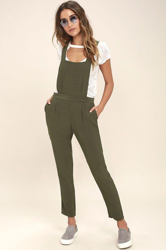 59a820767d3 BB Dakota Kelly Olive Green Overalls   essentials for april ...