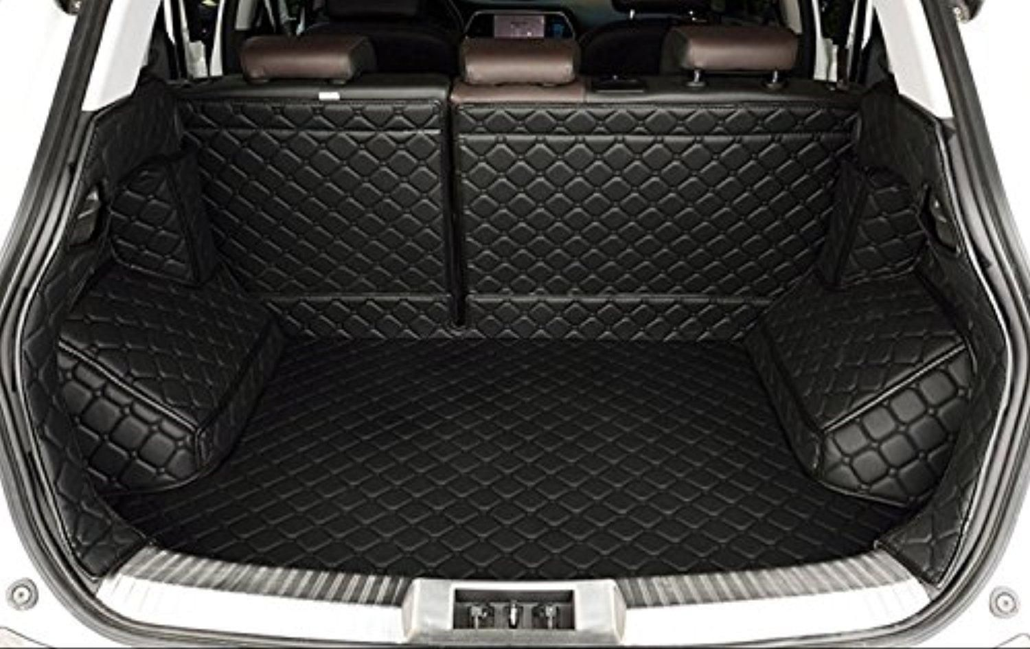 Auto Mall Waterproof Custom Fit Cargo Mat Trunk Liners Car Carpet Full Covered Trunk Mats Cargo Liners Leather Boots Liner Pet Mats For Jeep Cherokee 2014 2016 Cargo Liner Boot Liners