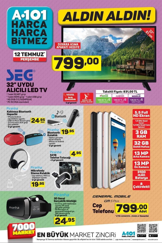 A101 12 Temmuz Kataloğu