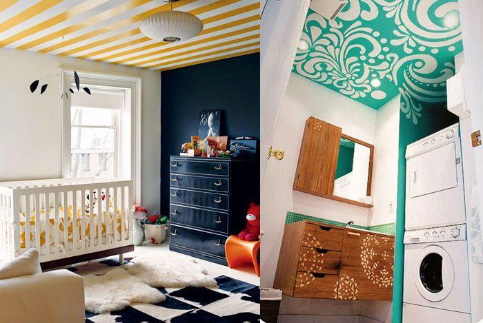 22 Bunte Raumideen Decke Streichen Und Tapezieren Tapezieren