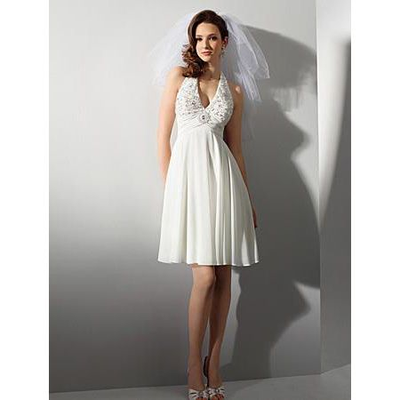 affordable short beach wedding dresses casual chiffon reception bridal dresses us 10595