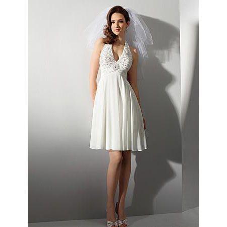 Affordable Short Beach Wedding Dresses Casual Chiffon Reception