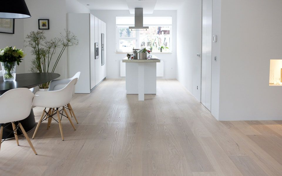 Eiken houten vloer wit geolied vloeren fußboden