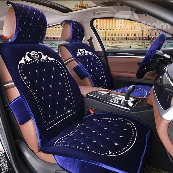 Best Selling Classic Designed Embroidered Plush Five Seats Cover Set On Sale Buy Retail Price Car Seat Covers At Beddinginn