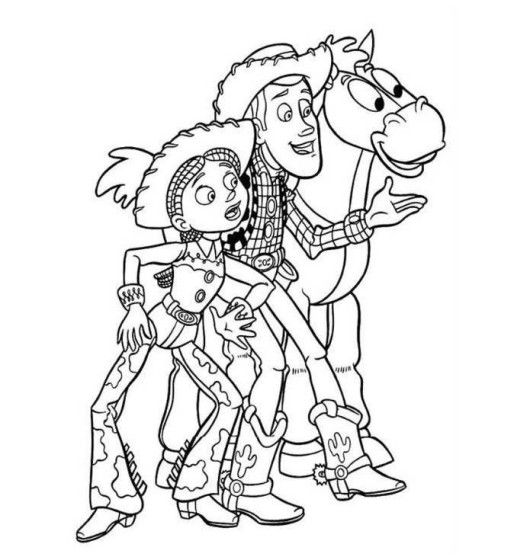 Woody Jessie Bullseye Toy Story 2 Coloring Page Boys Coloring Sheets Bullseye Toy Story On Do Toy Story Coloring Pages Coloring Pages Disney Coloring Pages
