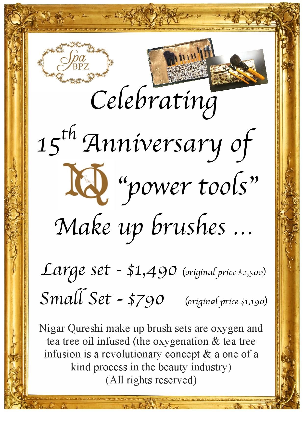 Buy any set of brush and you can get free special oil for