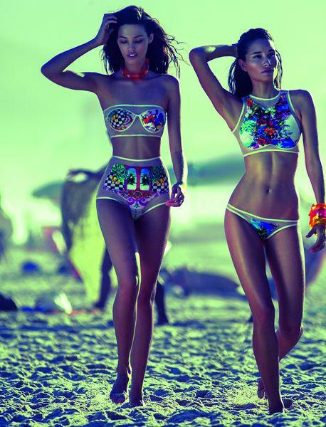 Girls SO Neon Tankini Swimsuit Set