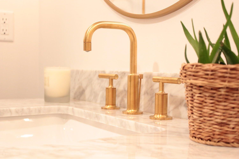 Bathroom Remodel Kohler Purist Brushed Gold Faucet Dp Building Spokane Wa Gold Faucet Kitchen Cleaning Hacks Kohler Purist