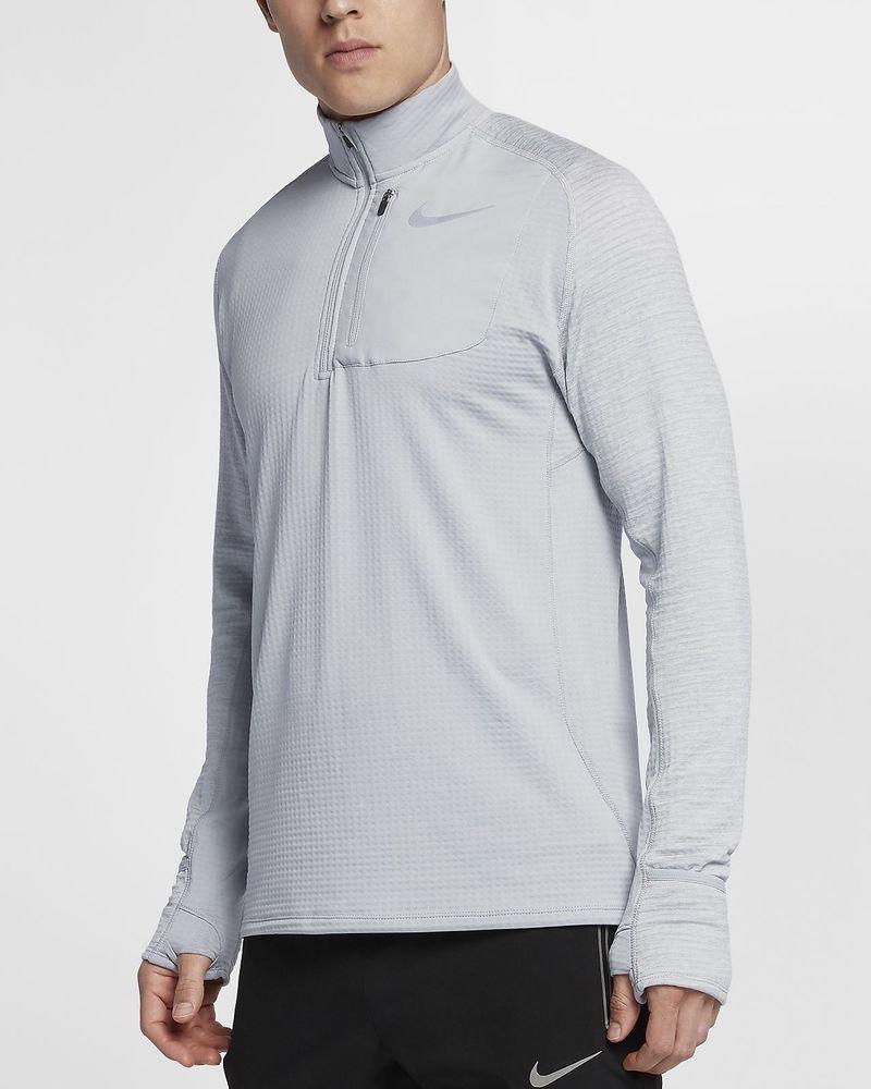 0bfe79b829c1 Nike Men s Therma Sphere Element Half Zip Top Shirt NEW 857829 012 Gray XL   Nike  ShirtsTops