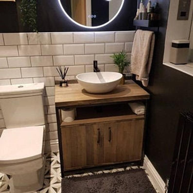 Industrial Bathroom Vanity Unit Washstand Bespoke Bathroom