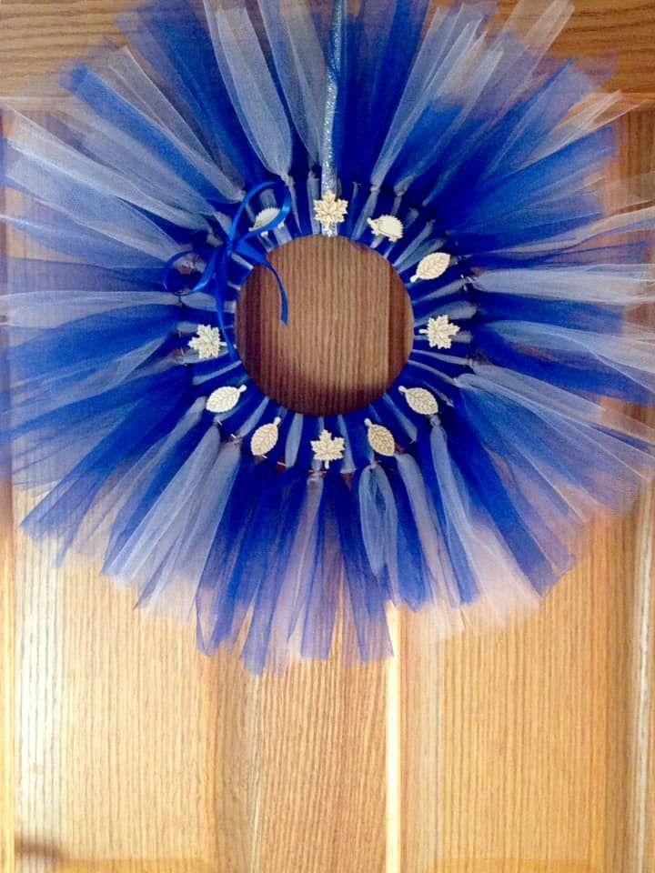 Blue and silver door wreath #WallSigns #AutumnWreath #blue #AutumnalWreath #SilverWreath #BlueWreath #RusticWreath #DoorSign #FrontDoorWreath #DoorAccessories