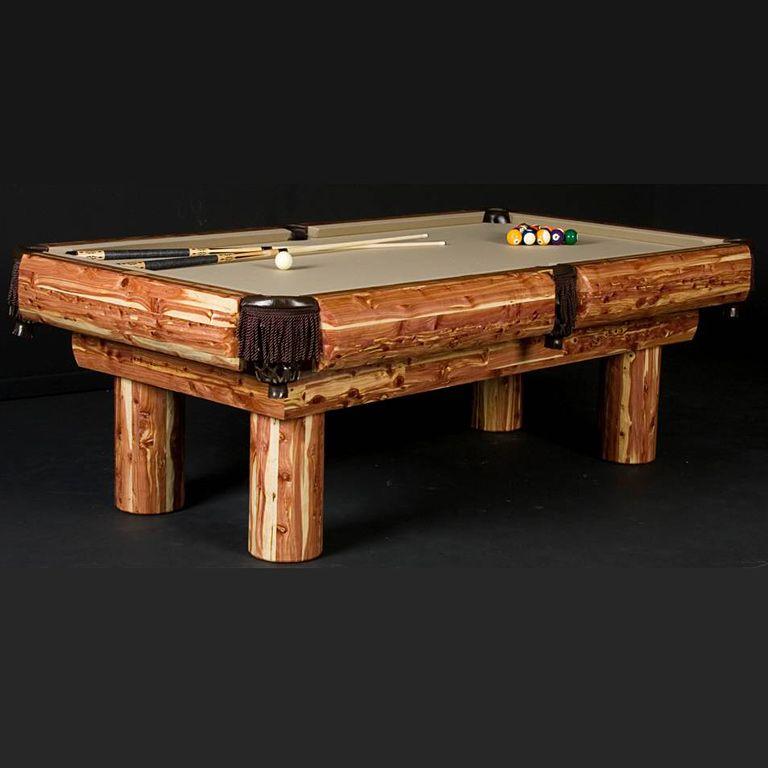 Red Cedar Ponderosa Log Billiard Table Vacation Home Ideas - Ponderosa pool table