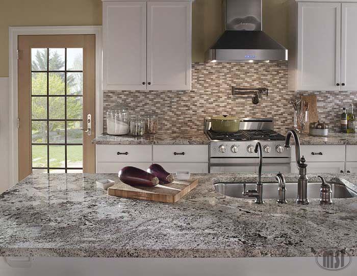 Perfect Combination Alaska White Granite Countertop
