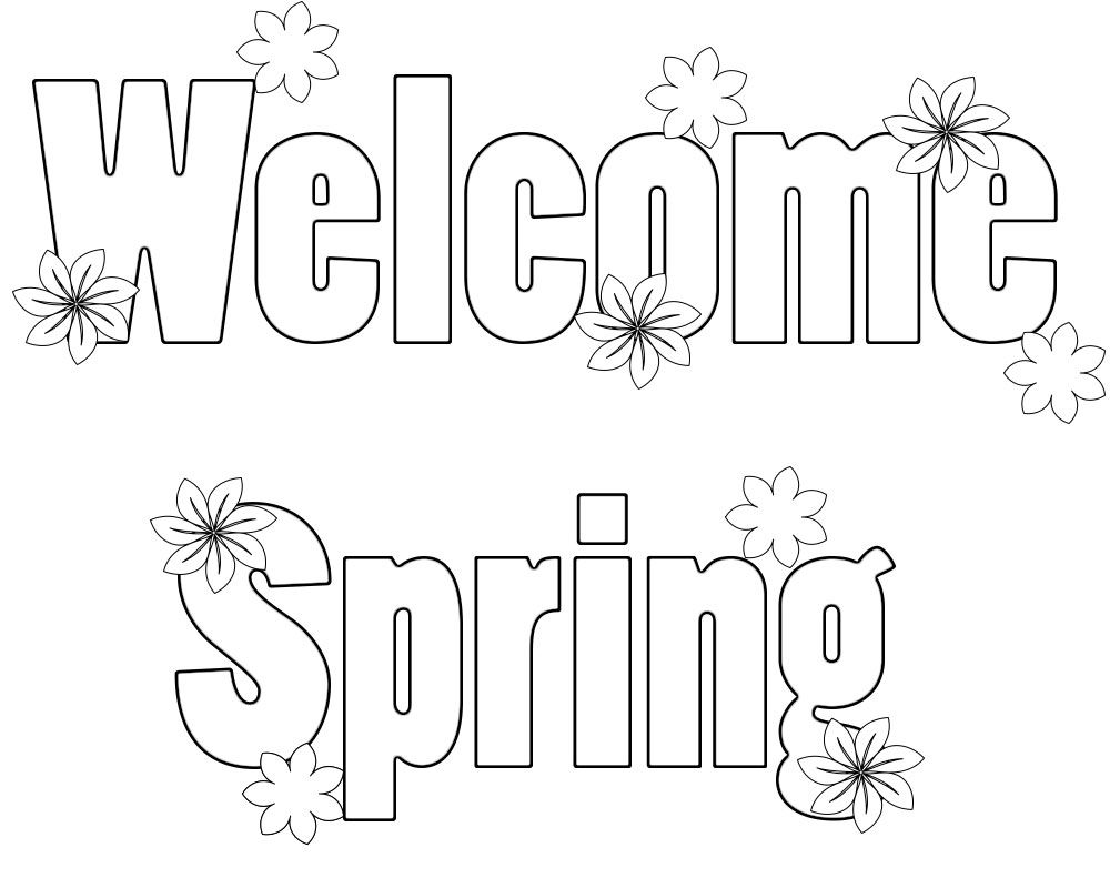Welcome Spring Coloring Pages Free Printable Free Download