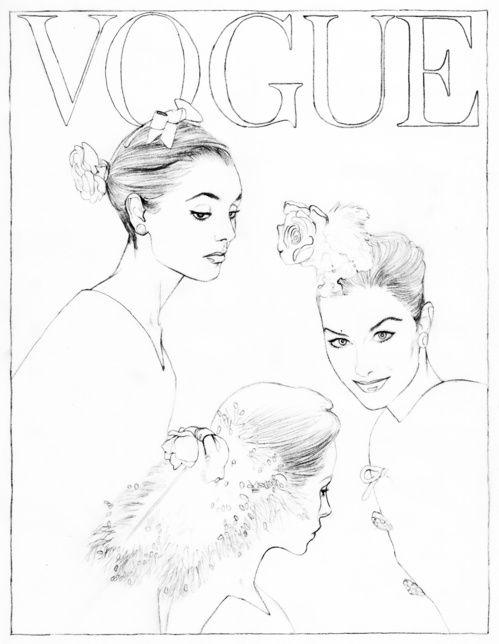 Color your favorite Vogue Paris covers | Paris illustration ...