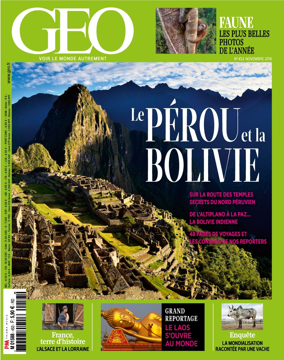 GEO N° 453 Novembre 2016 Pérou et Bolivie Bolivie