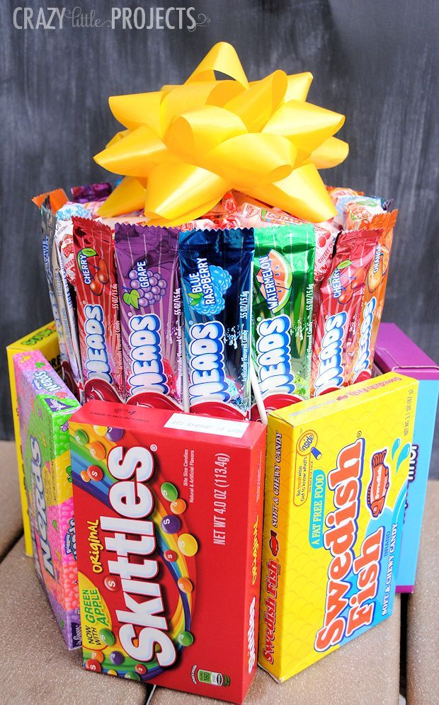 How to Make a Candy Cake Creative birthday gifts, Unique
