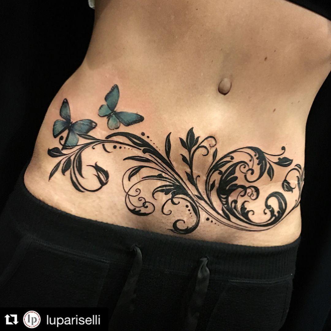 Tattoosforwomen Tatuaje para tapar cicatriz, Tatuaje