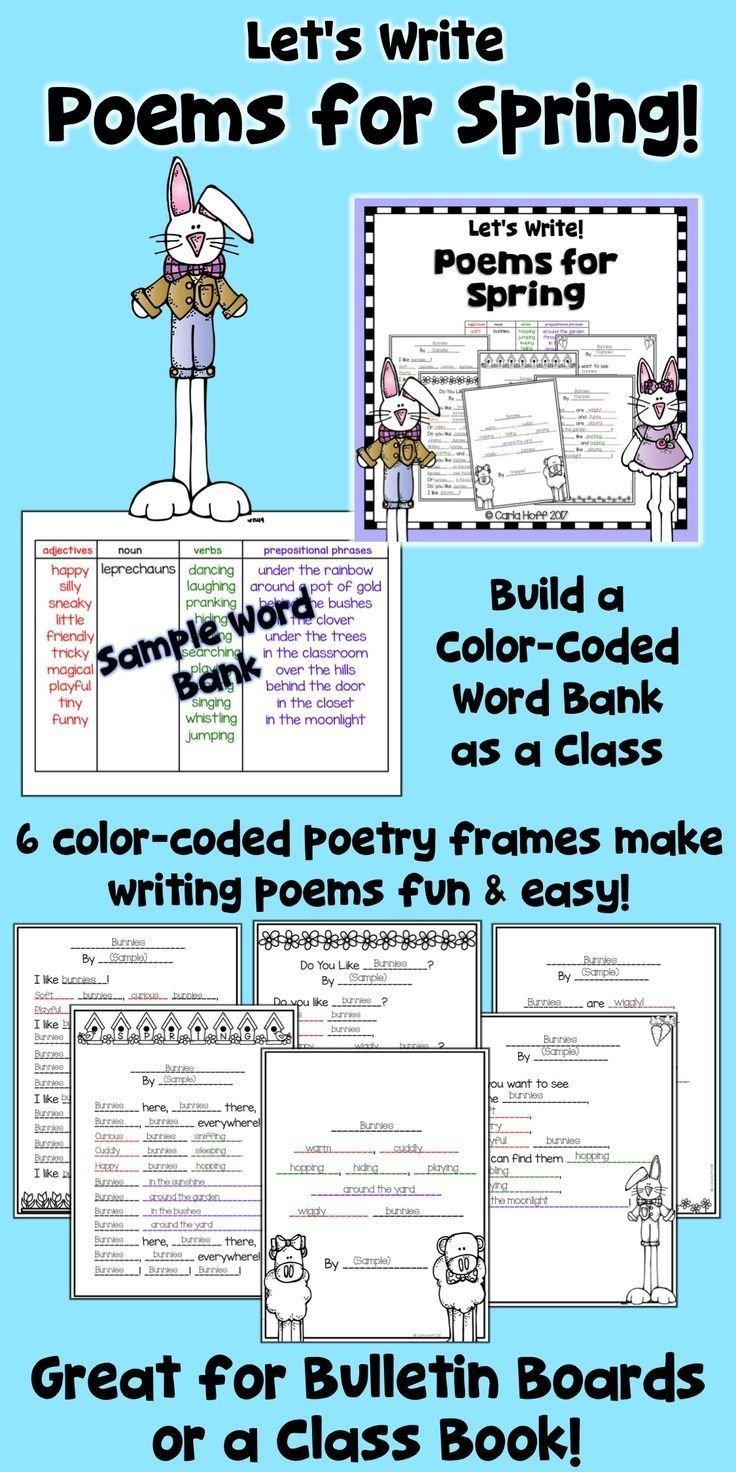 Spring and Easter Poetry Writing Activities | Students, Language ...