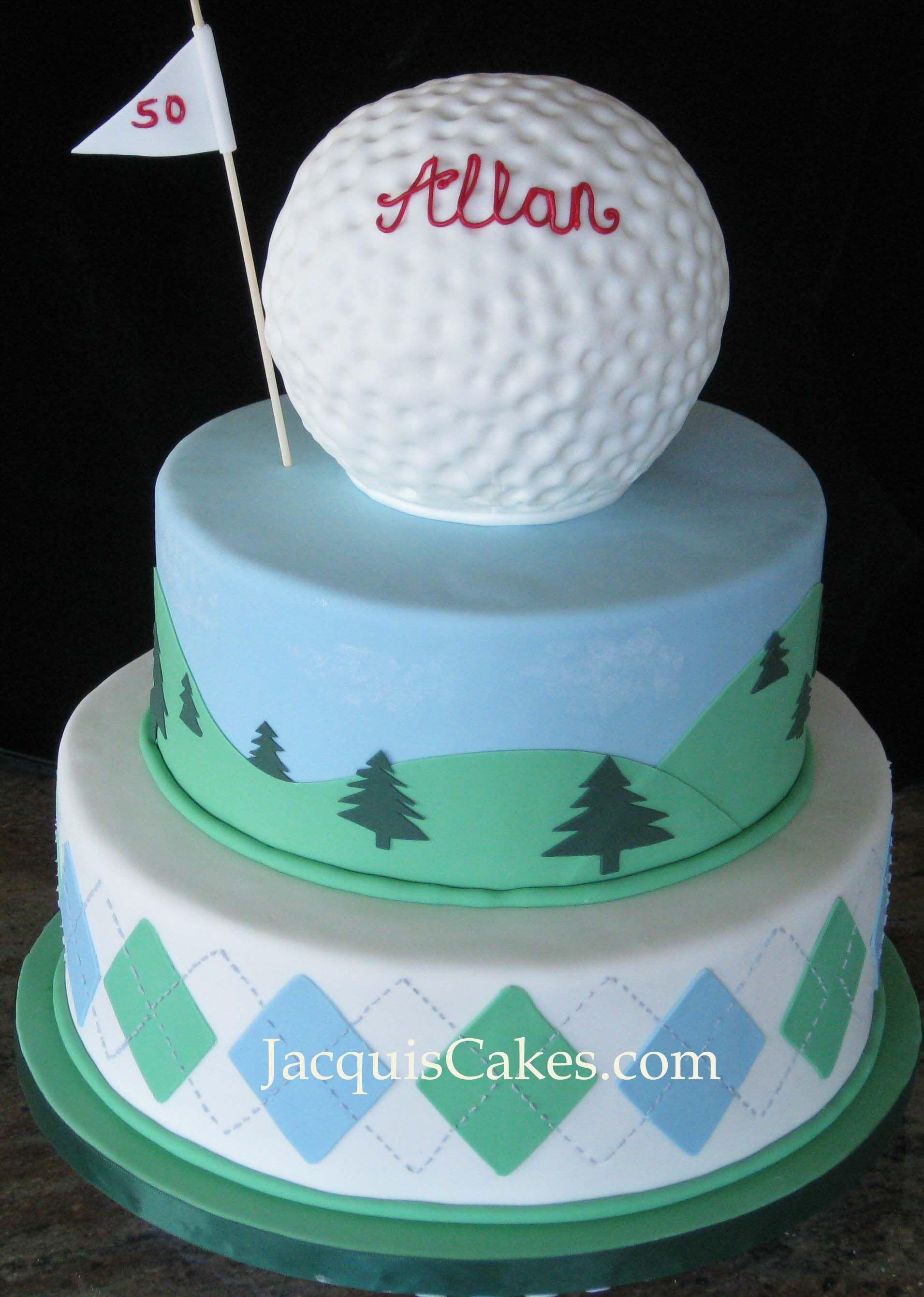 golf cake Boys Birthday Parties Pinterest Golf ball cake Golf