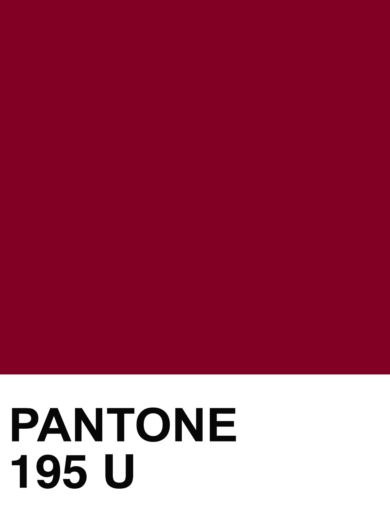 PANTONE 195 U Color Swatch | The House of Beccaria ...