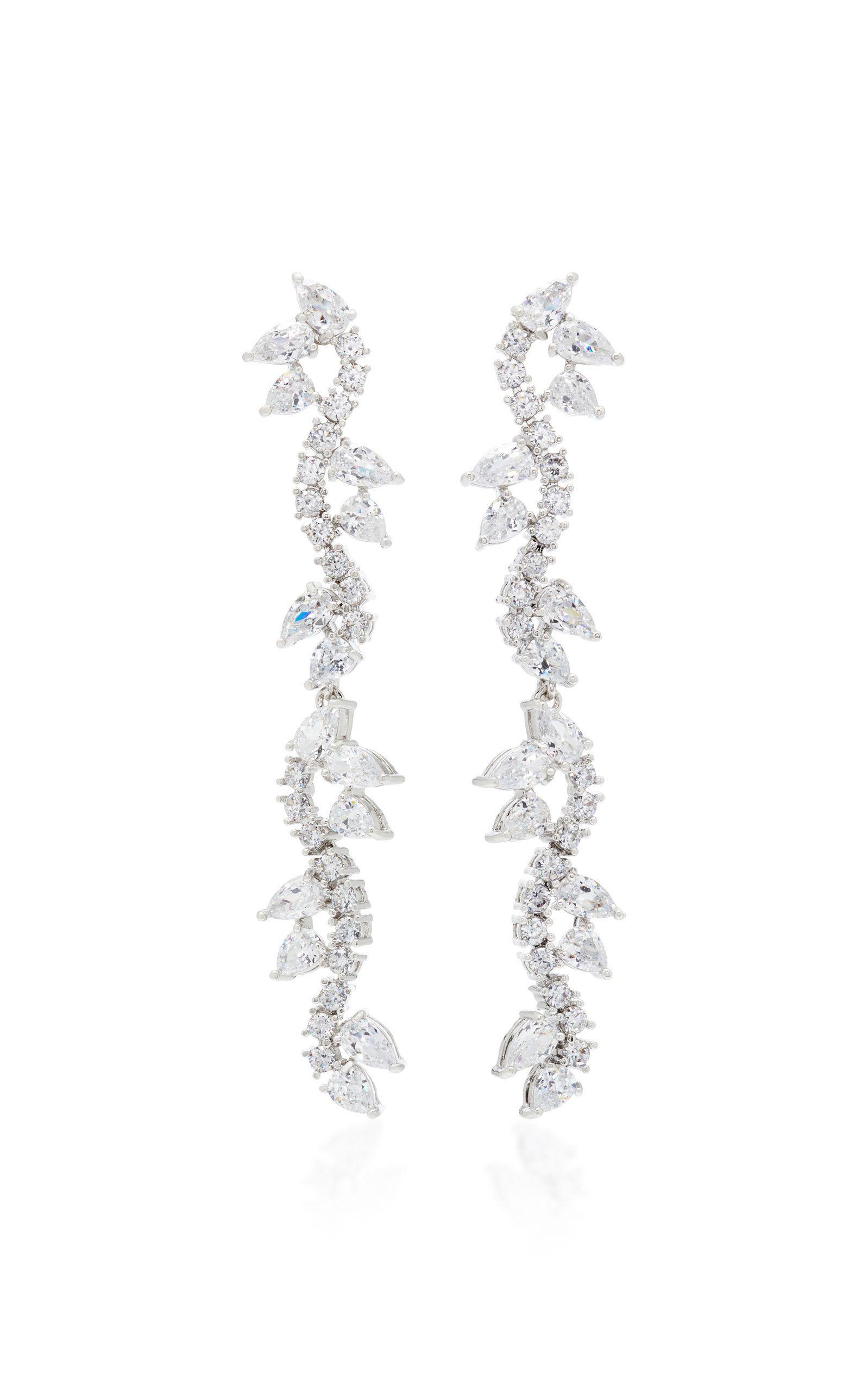 Silver-Plated Crystal Earrings Fallon byW2j8