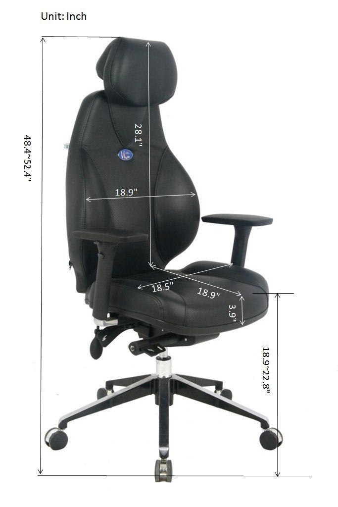 Ergonomic Full Functions Leather High Back Home Office Chair With Pneumatic Seat Height Adjustment And Side Wa Leather Office Chair Office Chair Leather Seat