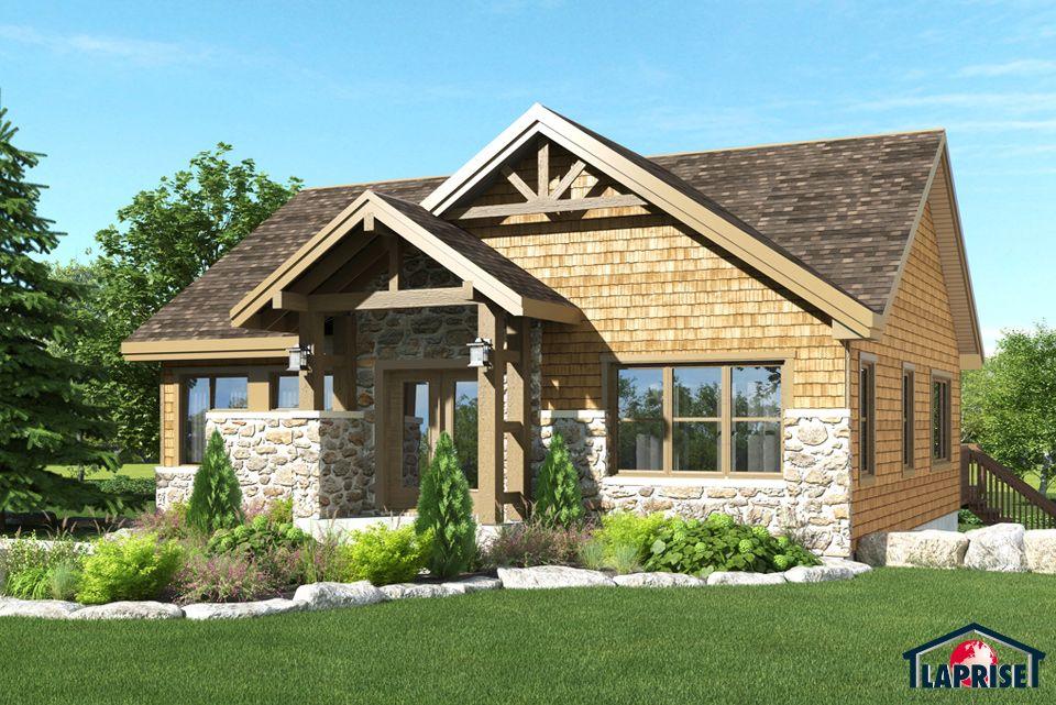 Champêtre, Bordure de lac   Chalet LAP0372 Maison Laprise - liste materiaux construction maison